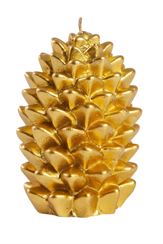 MIZALLE لون ذهبي ، مخروط شمعة (11X8) (1)
