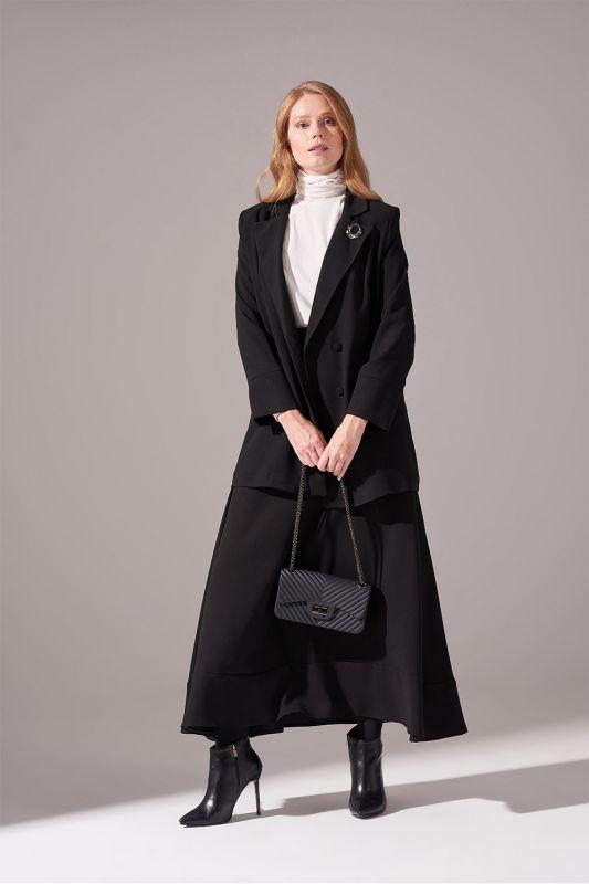Krep Salaş Ceket (Siyah)
