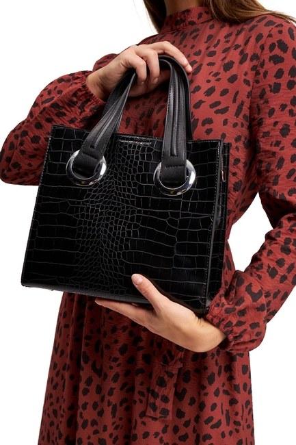MIZALLE - حقيبة اليد الكلاسيكية (أسود) (1)