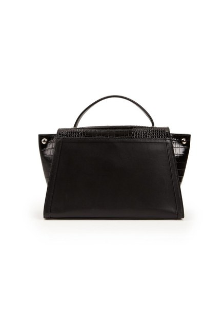 MIZALLE - Crocodile Leather Shoulder Bag (Crocodile Black) (1)