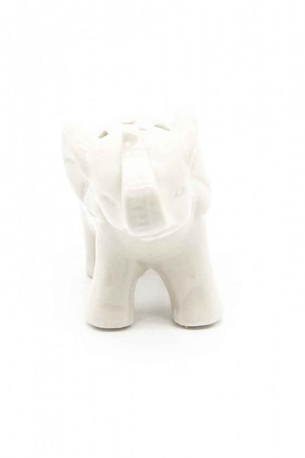 MIZALLE HOME - Küçük Boy Porselen Fil Biblo (Beyaz) (1)