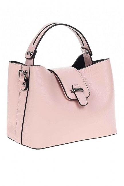 Snaps Detailed Small Handbag (Powder) - Thumbnail