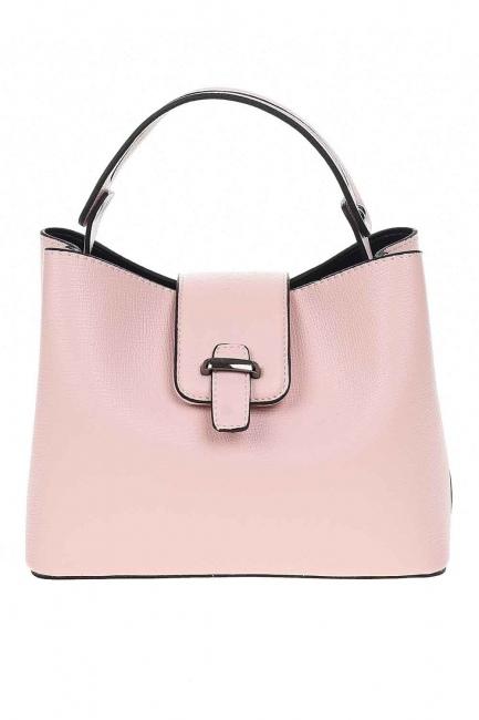 MIZALLE - Small Handbag with Snaps (Powder) (1)