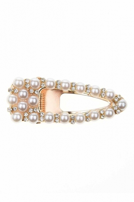 Pearl Detailed Snap Buttons Hair Clips (St) - Thumbnail