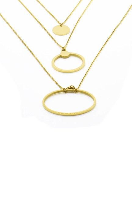 MIZALLE - سلسلة فولاذية مع حلقات صغيرة (الأصفر) (1)