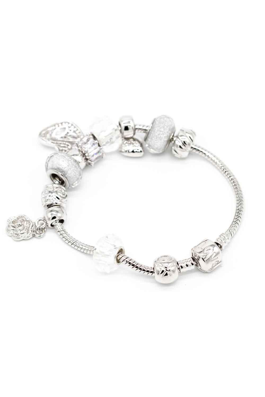 MIZALLE Swan Shaped Bracelet (White) (1)
