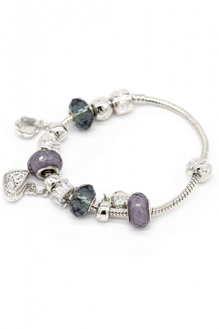 Swan Shaped Bracelet (Grey) - Thumbnail