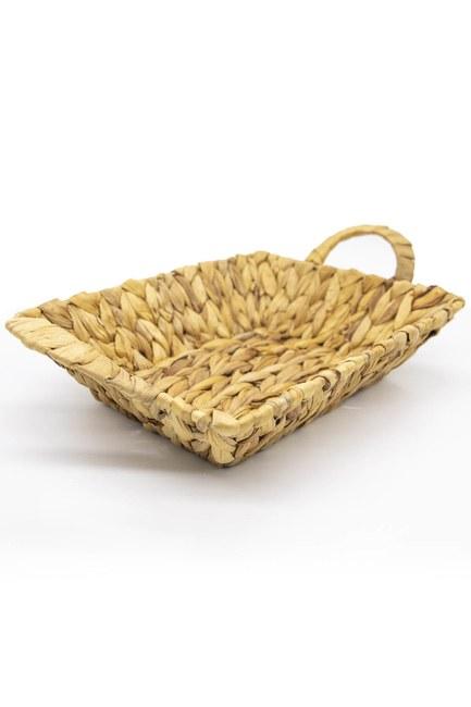 MIZALLE HOME - Handled Wicker Bread Basket (Mink) (1)
