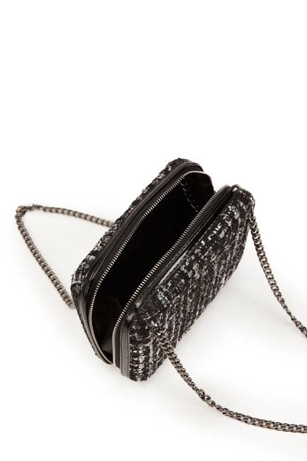 Kumaş Desenli Çanta (Siyah) - Thumbnail