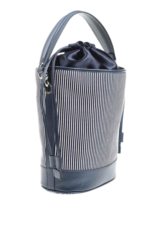 MIZALLE حقيبة كتف مزخرفة بالنسيج (كحلي) (1)