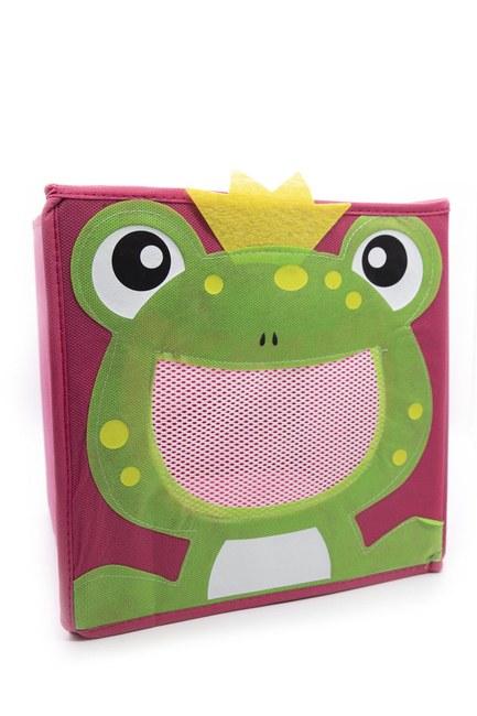 Kurbağalı Oyuncak Saklama Kutusu (Kırmızı) - Thumbnail