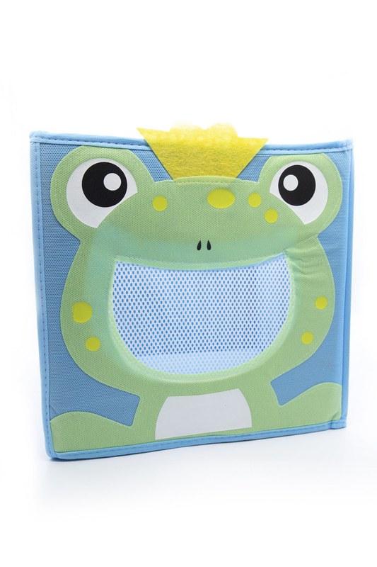 Kurbağalı Oyuncak Saklama Kutusu (Mavi)