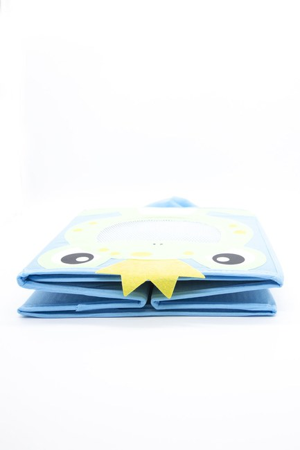 Kurbağalı Oyuncak Saklama Kutusu (Mavi) - Thumbnail