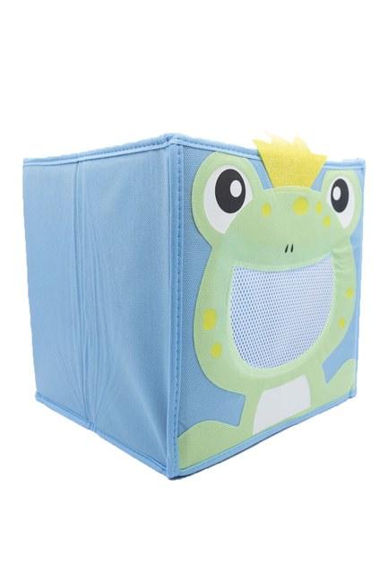 MIZALLE HOME - Kurbağalı Oyuncak Saklama Kutusu (Mavi) (1)