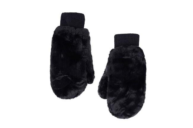 Kürklü Örme Eldiven (Siyah) - Thumbnail