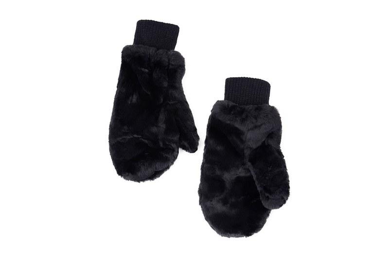 Kürklü Örme Eldiven (Siyah)