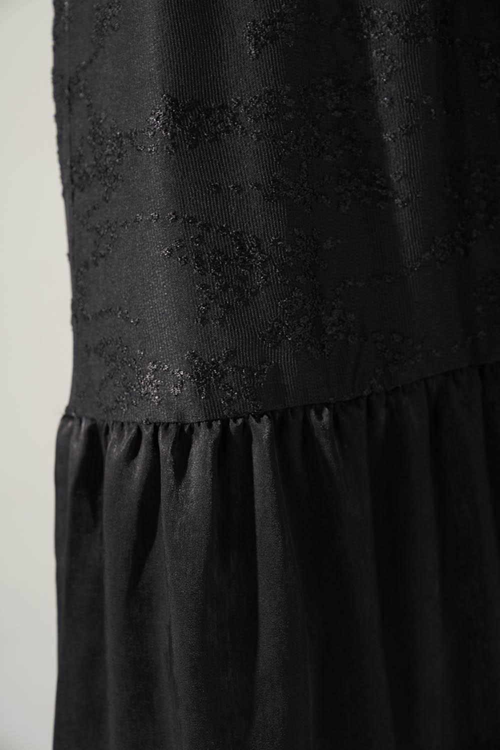 Kuşaklı Siyah Elbise