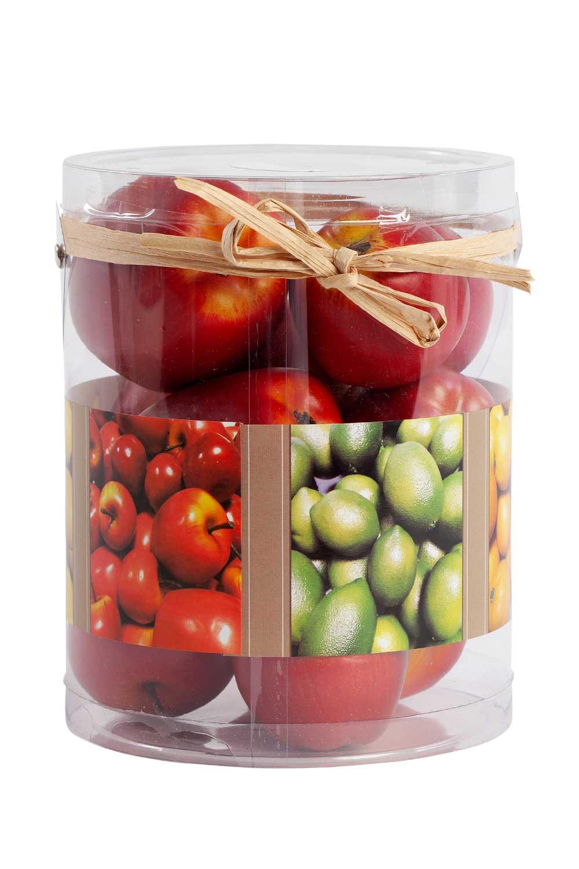 MIZALLE HOME Kutulu Dekoratif Elma (Kırmızı) (1)
