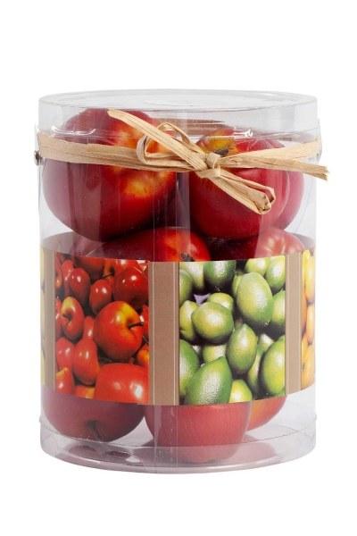 MIZALLE HOME - Kutulu Dekoratif Elma (Kırmızı) (1)