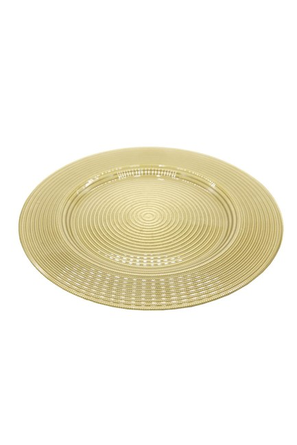 MIZALLE HOME - Decorative Service Plate (Gold) (1)