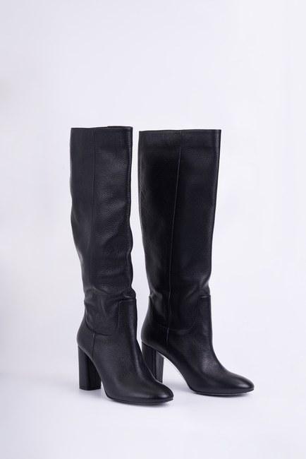 Mizalle - حذاء جلد طويل (أسود) (1)