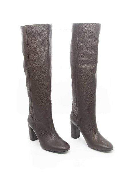 Mizalle - Leather Long Boots (Brown) (1)