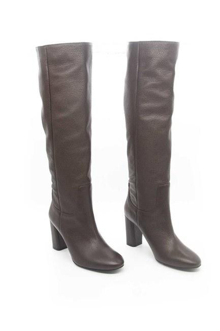 Mizalle - حذاء جلد طويل (بني) (1)