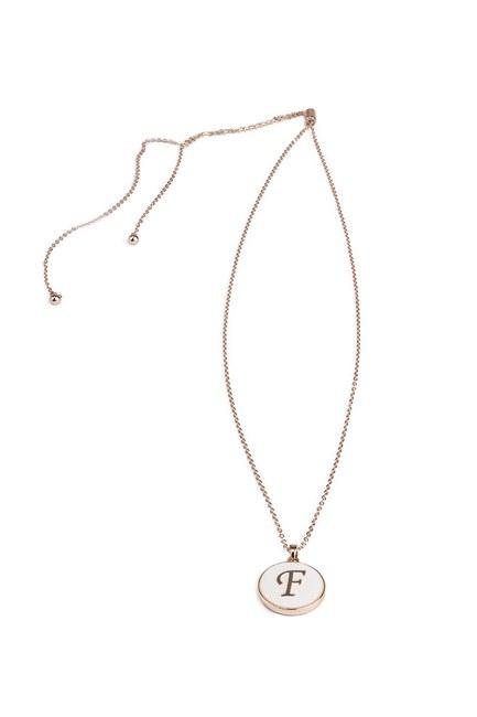 MIZALLE - Letter Necklace (Letter F) (1)