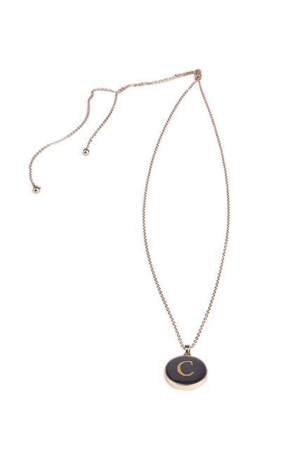 MIZALLE - Letter Necklace (Letter Ç) (1)