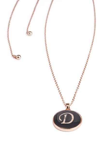 MIZALLE - Letter Necklace (Letter D) (1)