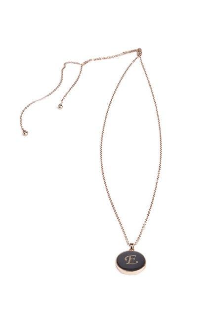 MIZALLE - Letter Necklace (Letter E) (1)