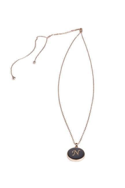 MIZALLE - Letter Necklace (Letter N) (1)