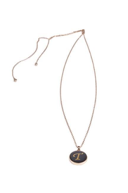MIZALLE - Letter Necklace (Letter T) (1)