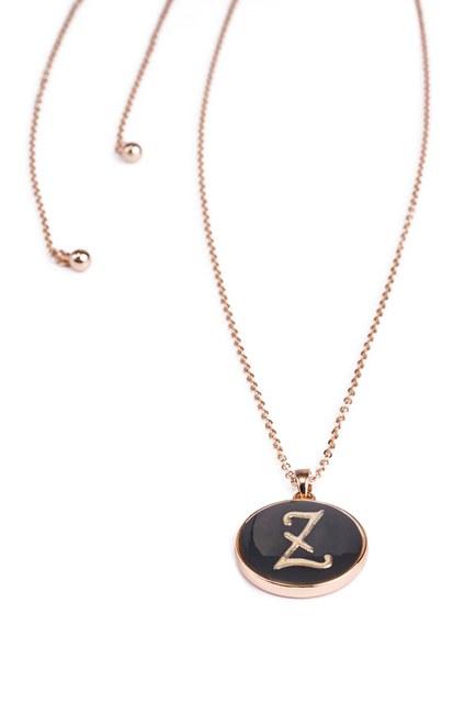 MIZALLE - Letter Necklace (Letter Z) (1)