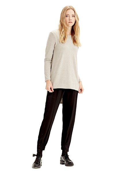 MIZALLE Long-Sleeved T-Shirt (Grey)