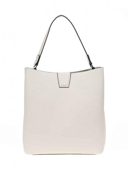 MIZALLE - حقيبة يد كلاسيكية فاخرة (بيج) (1)