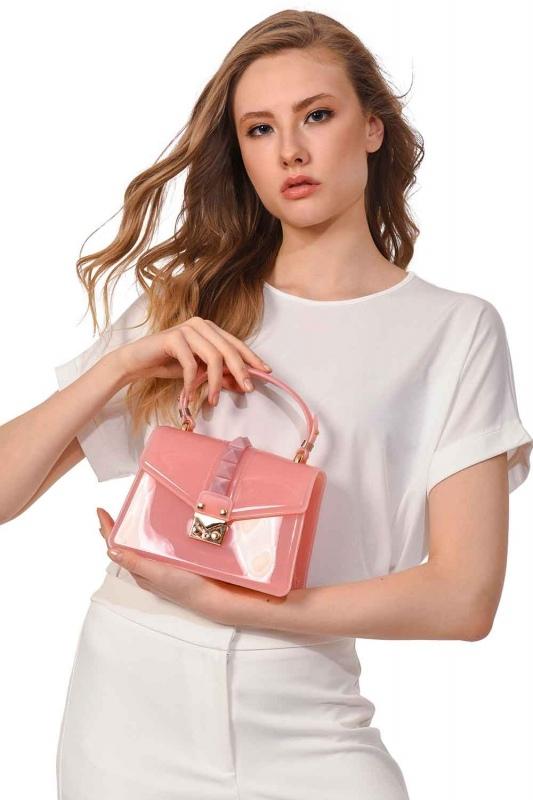 حقيبة يد فاخرة لينة (الوردي)