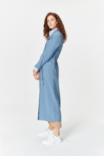 MIZALLE - Luxury Trenchcoat (Indigo) (1)