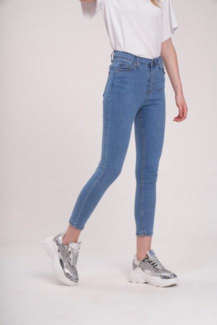 MIZALLE YOUTH - Lycra Narrow Leg Trousers (Blue) (1)