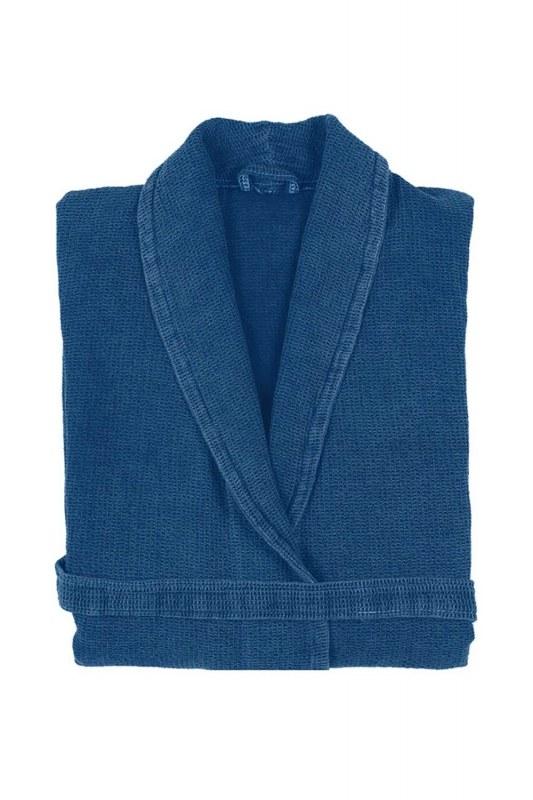 Blue Cotton Bathrobe
