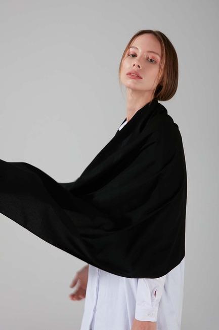Medine İpeği Şal (Siyah) - Thumbnail