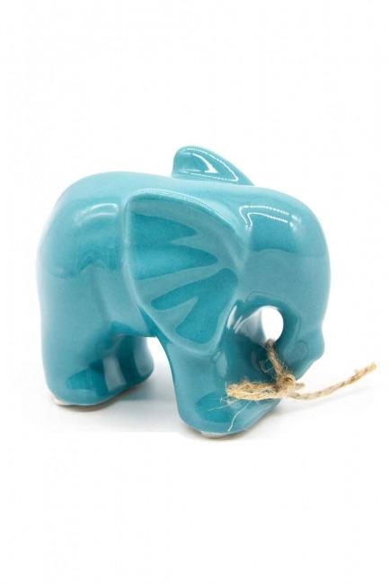 MIZALLE HOME Medium Size Elephant Trinket (Blue)