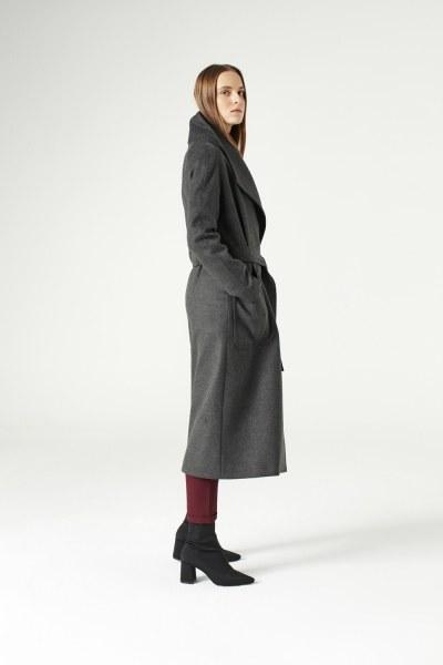 MIZALLE - Mega Collar Cachet Coat (Anthracite) (1)