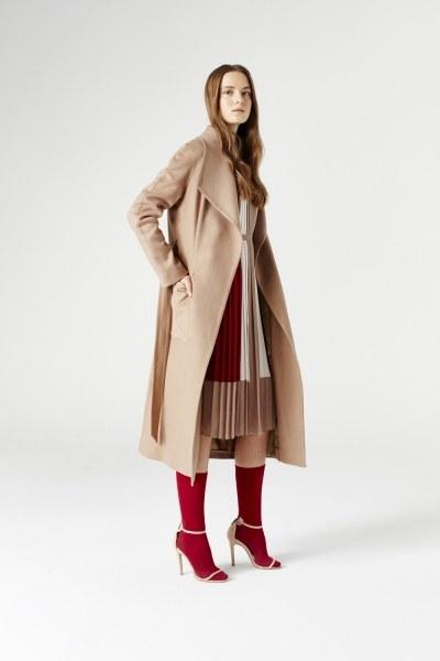 MIZALLE - Mega Collar Cachet Coat (Camel) (1)