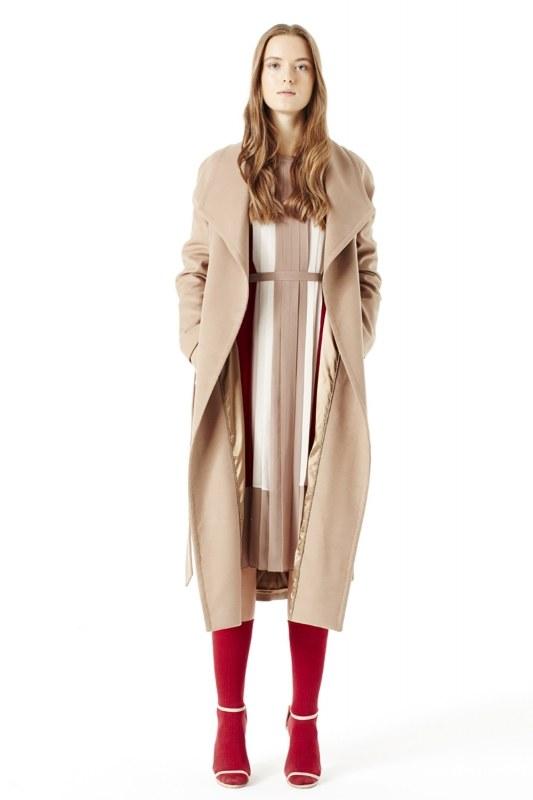 Mega Collar Cachet Coat (Camel)