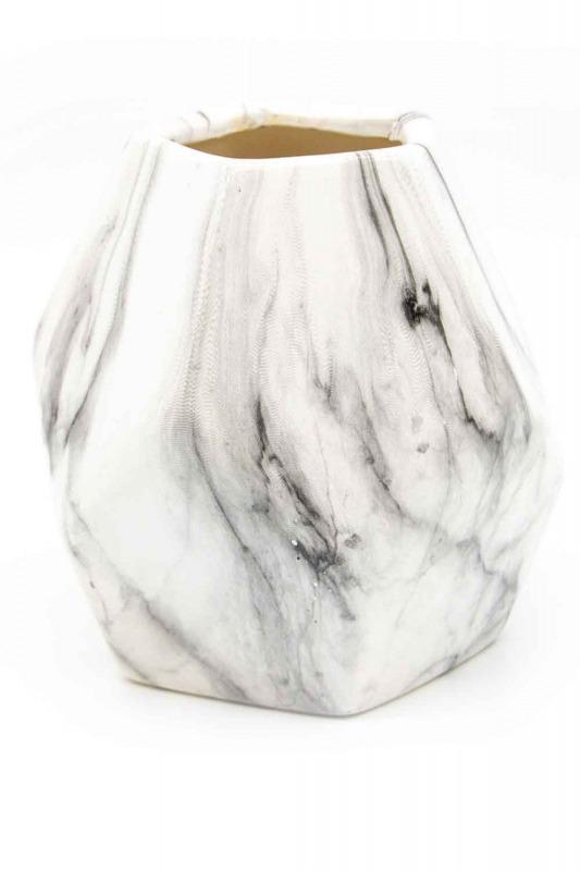 Mermer Görünümlü Küçük Vazo (St)