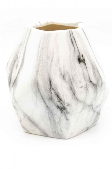 Mermer Görünümlü Küçük Vazo (St) - Thumbnail