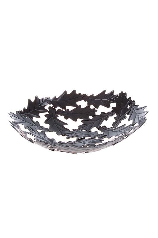 Metal Büyük Dekoratif Tabak (Siyah)