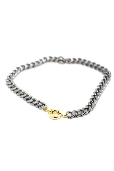 Metalik Zincir Kolye (Gri) - Thumbnail