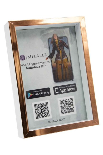 MIZALLE HOME - إطار الصورة الحد الأدنى (النحاس) (1)